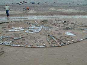 Mandala na pláži